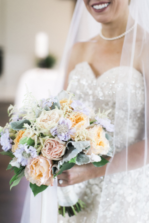Bride Bouquet with Pastel Flowers