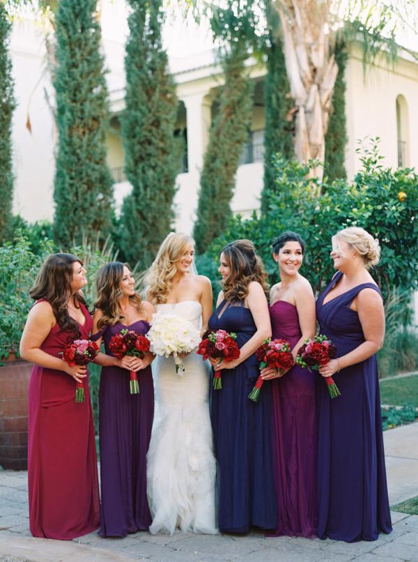 Bridesmaids in Jewel Tones
