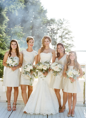 Bridesmaids in Pale Taupe