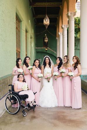 Bridesmaids in Pink Dresses1