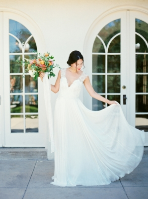 Chiffon Skirt on Divine Atelier Gown