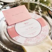 Circular Wedding Menu