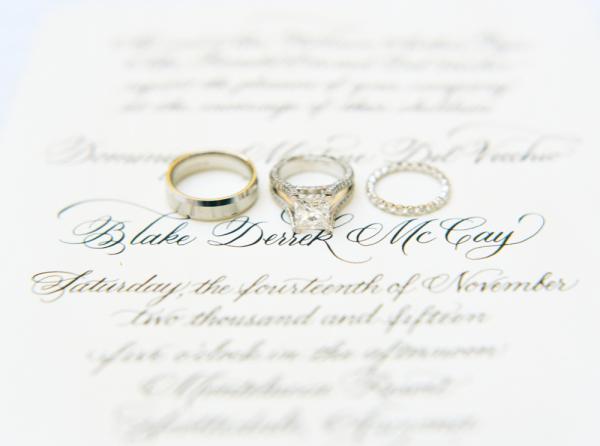 Classic Calligraphy Wedding Invitations