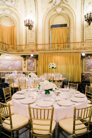 Gold and White Ballroom Wedding