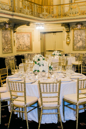 Gold and White Chicago Ballroom Wedding