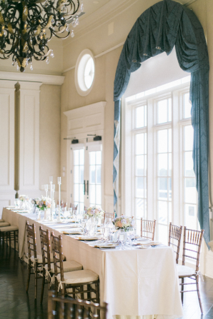 Head Table by Grand Window for Wedding