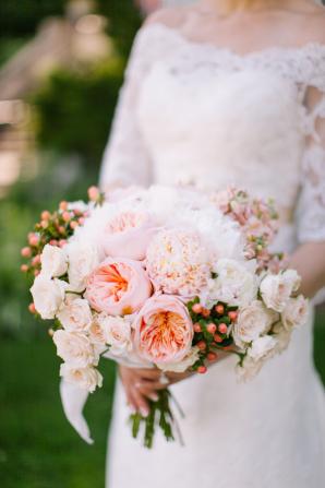 Peach David Austin Rose Bouquet