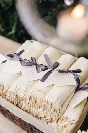 Shawls as Wedding Favors