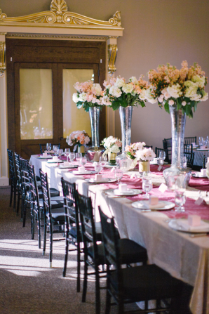 Trumpet Centerpieces with Peach Flowers