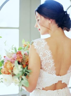 Wedding Dress with Back Cutout