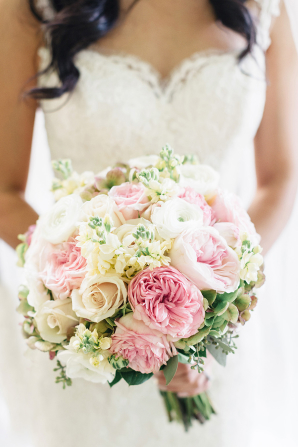 White and Pink Bride Bouquet