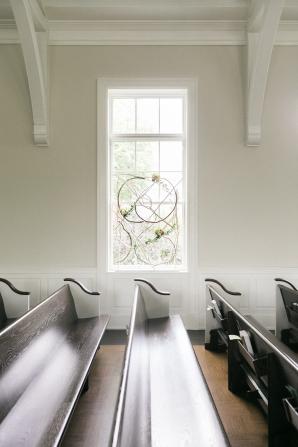 Window Decor in Chapel for Wedding