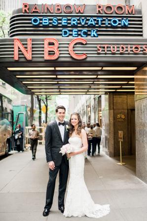 Bride and Groom at NBC Studios
