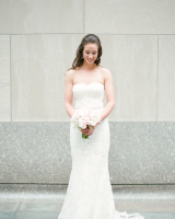 Bride in Amsale Gown