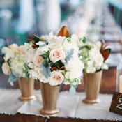 Cluster Centerpiece in Gold Vases