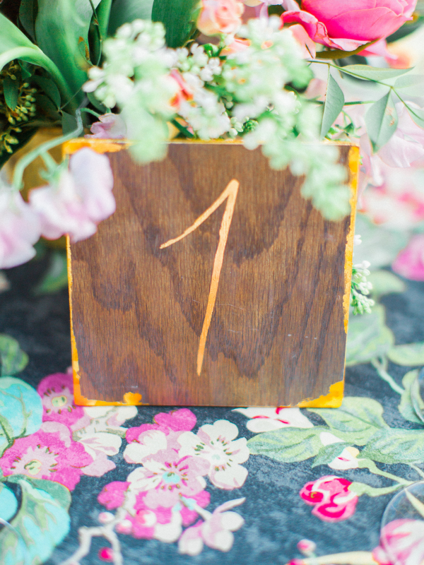 Distressed Wood Table Number