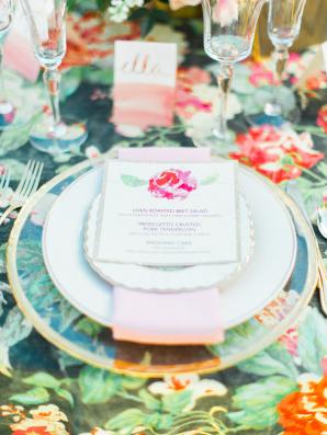 Flower Wedding Linen