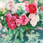 Fuchsia and Blush Wedding Flowers
