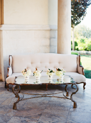 Gray and Ivory Wedding Lounge Area