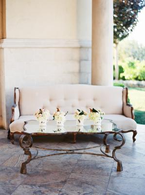 Gray and Ivory Wedding Lounge Area