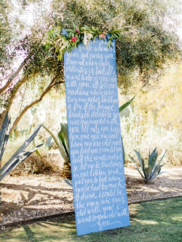 Handwritten Vow Backdrop
