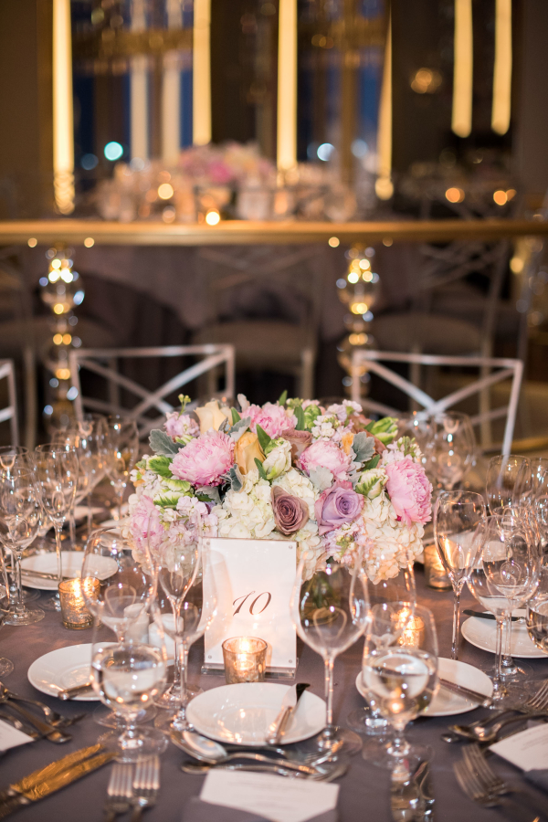 Lavender Wedding Reception At The Rainbow Room Elizabeth Anne