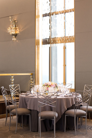 Lavender and Gray Wedding Reception