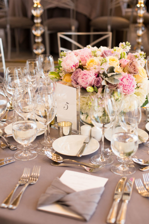 Lavender and Pink Wedding Reception