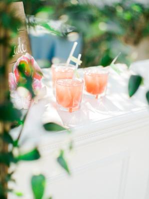Peach Lemonade Wedding Drinks