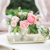Pink Rose Posy Centerpiece