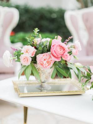 Pink Rose Posy Centerpiece
