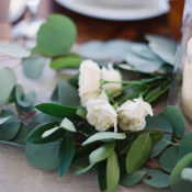 Rose and Greenery Garland Centerpiece