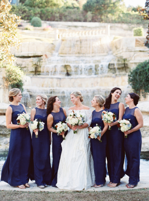 Royal Blue Amsale Bridesmaids Dresses