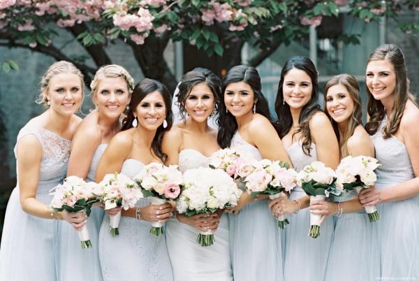 Baby Blue Amsale Bridesmaids