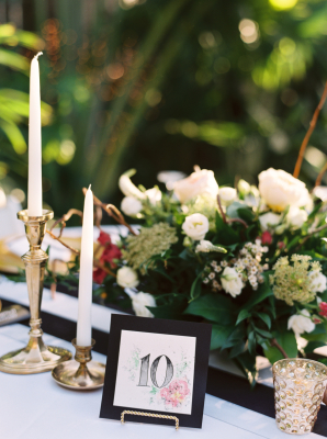 Black Gold and Green Centerpiece