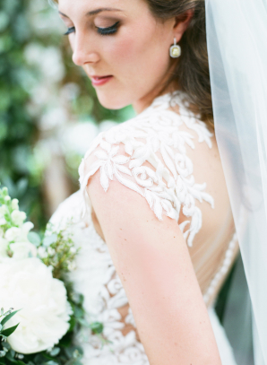 Bodice of Justin Alexander Gown