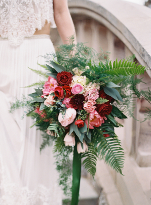Bouquet with Roses and Fern