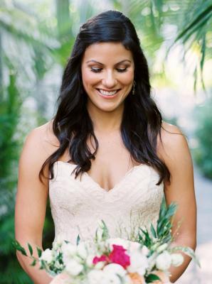 Bride in Matthew Christopher Dress