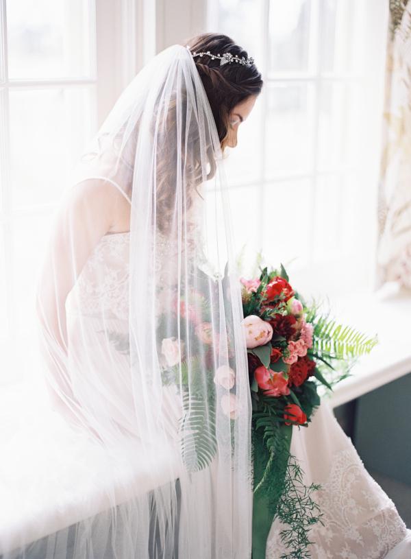 Bride in Windowsill
