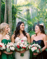 Bridesmaids in Emerald Green