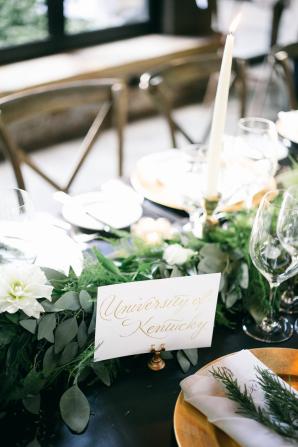 Calligraphy Table Name