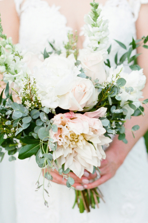 Dahlia Rose Eucalyptus Bouquet