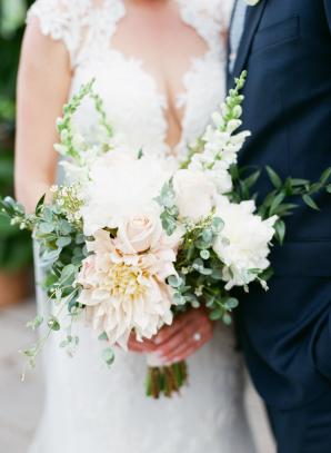 Dahlia and Stock Bouquet