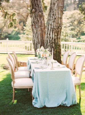 Delicate Blue Wedding Table