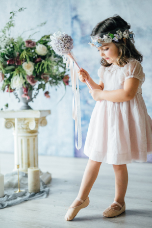 Flower Girl in Ballet Shoes