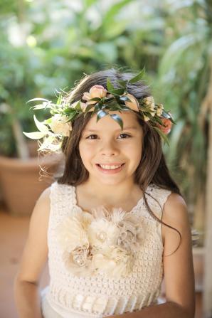 Flower Girl in Floral Crown