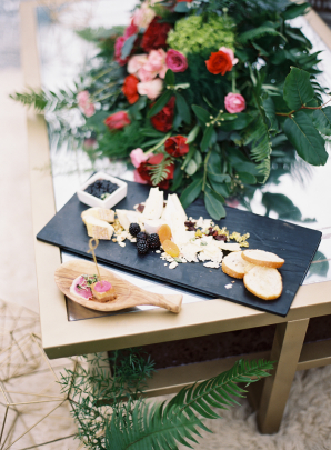 Fruit and Cheese Plate for Wedding