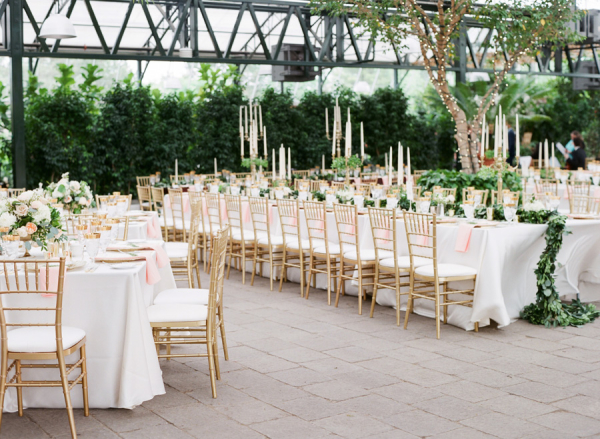 Gold and Green Conservatory Wedding
