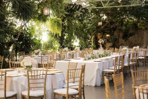 Green and Gold Garden Wedding