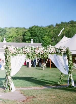 Greenery and Flower Wedding Canopy
